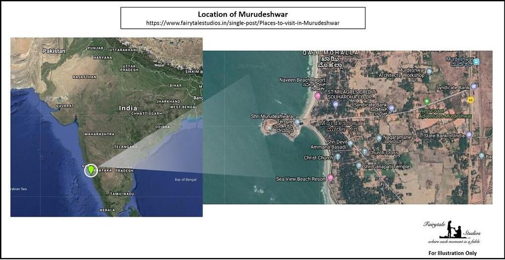 Murudeshwar is located somewhere between Goa and Mangalore on coast