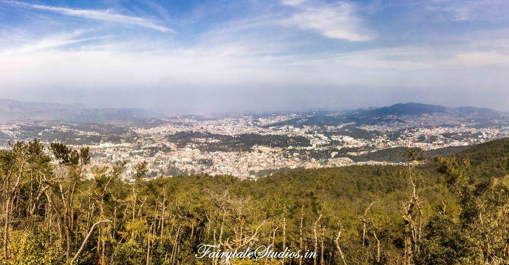 Panoramic views of  Shillong from Shillong Peak, the highest point in meghalaya