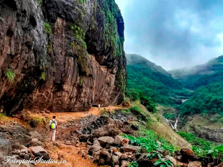 Trek to Harishchandragad fort situated near Purushwadi village, Maharashtra, India