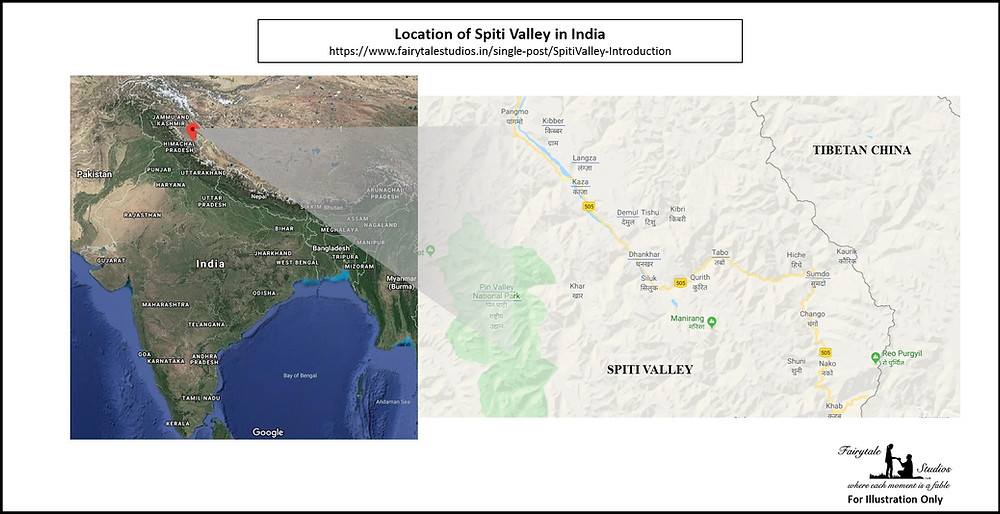 Location of Spiti Valley in India_Introduction to Spiti Valley
