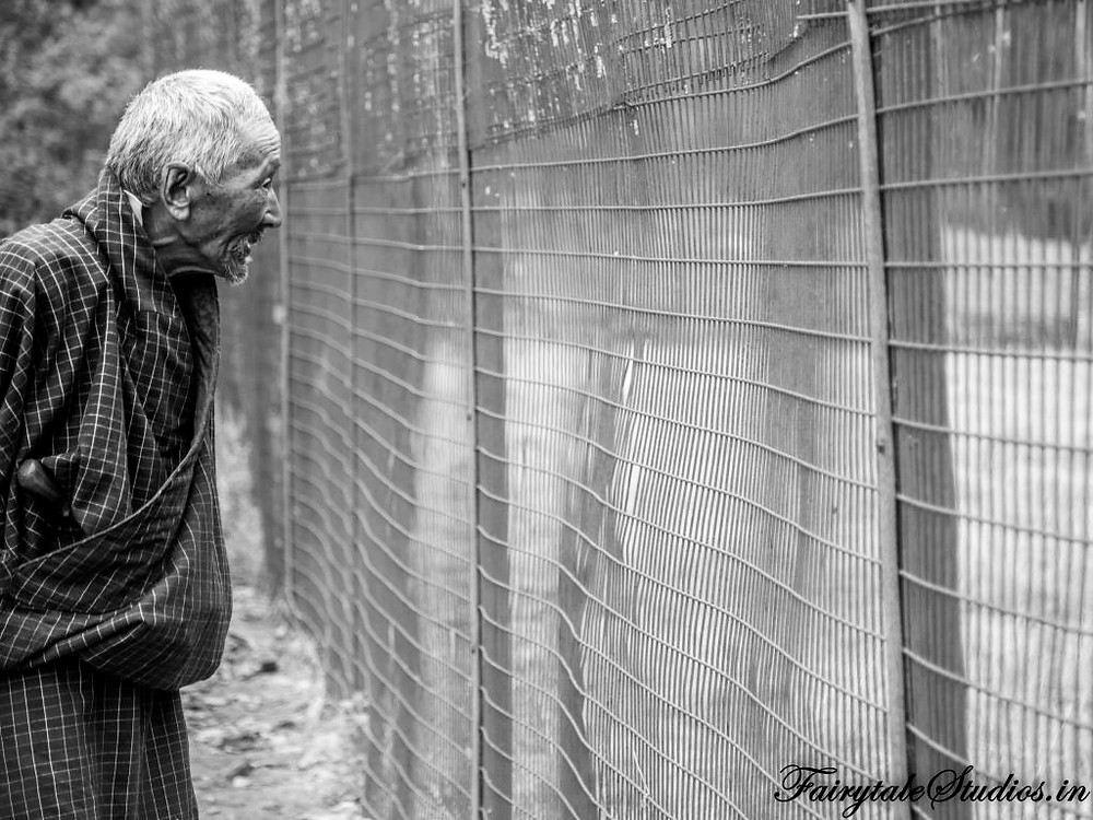 Elderly enjoying at a zoo in Thimphu, Bhutan