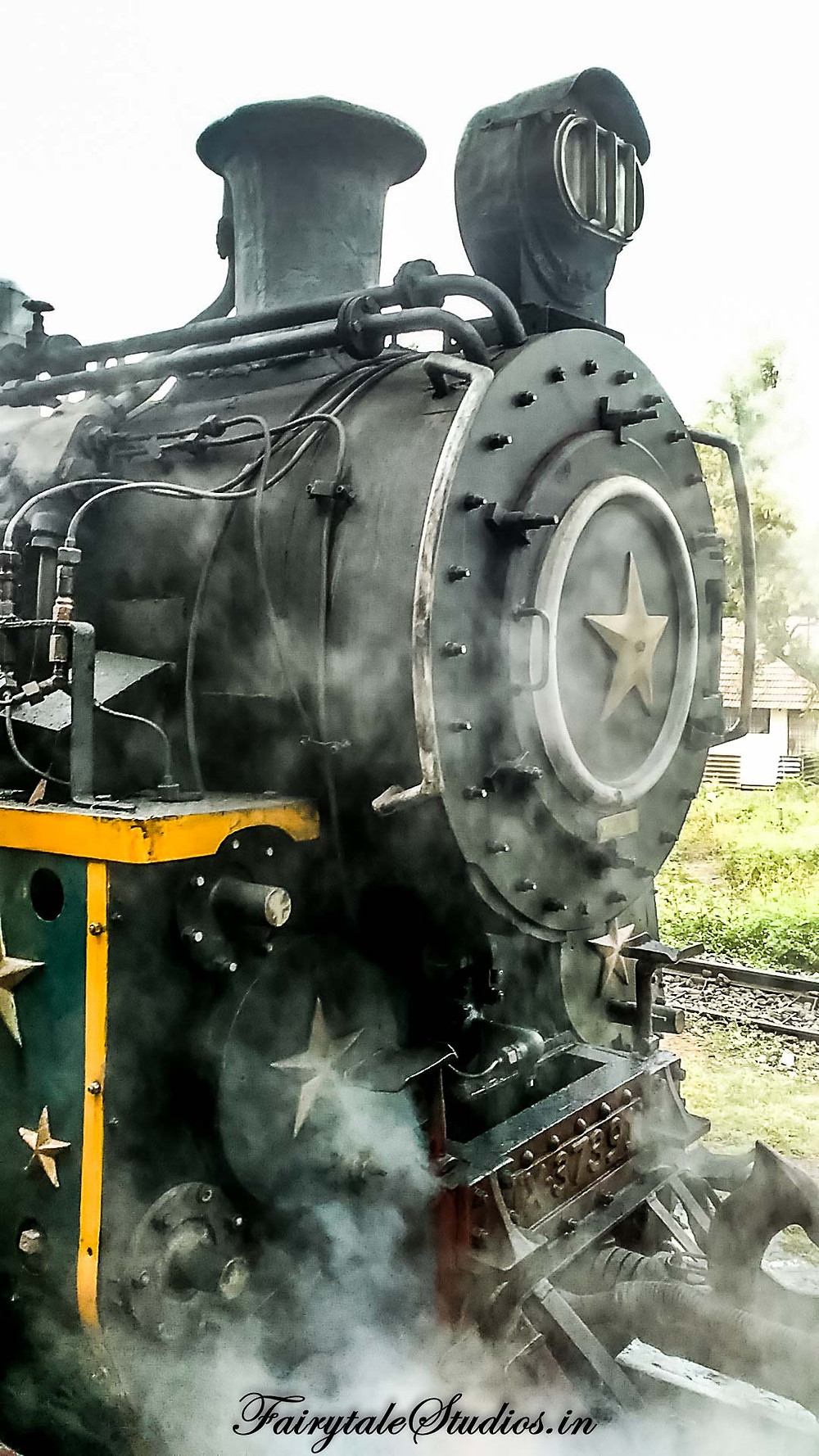 The steam engine of Nilgiri Mountain rail in all its glory
