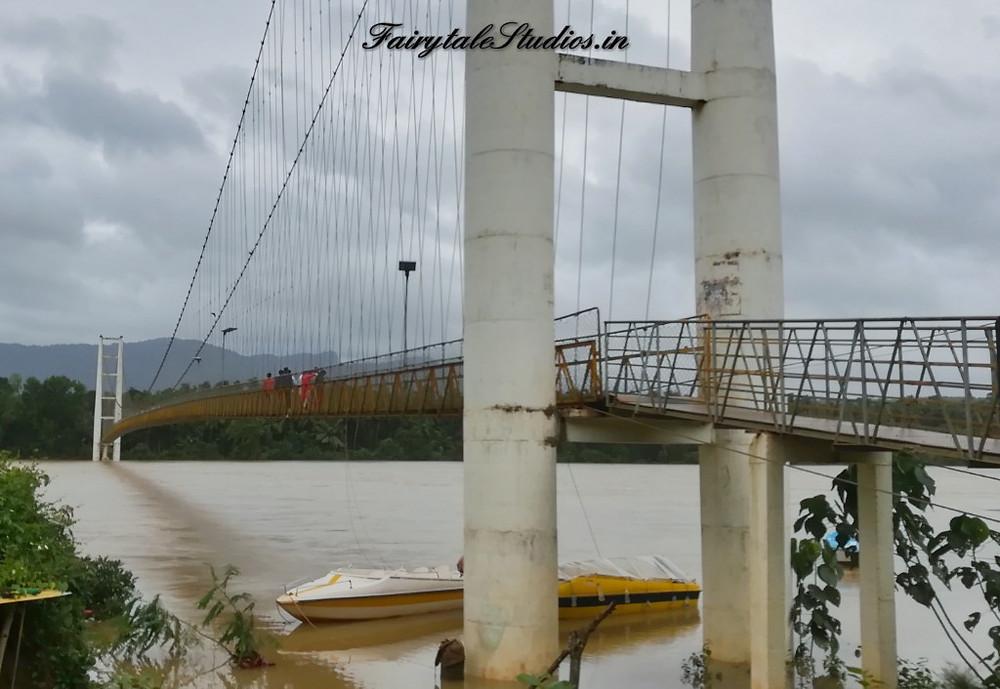 Sharavathi suspension bridge on the way to Jog Falls, Karnataka - India from Honnavar - India
