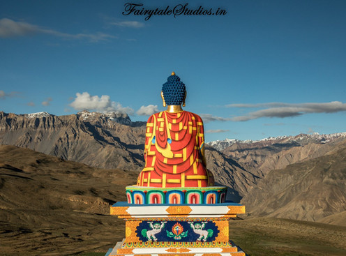 Langza Village and Buddha statue, Spiti Valley - Surreal Spiti