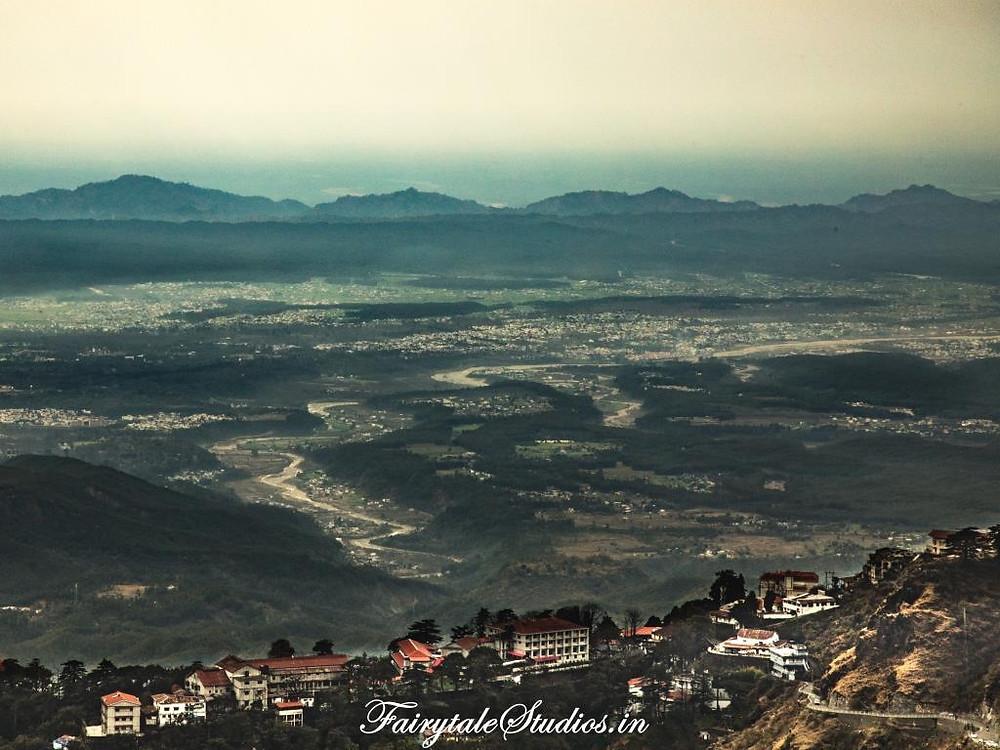 Doon valley view from La Villa Bethany, Landour (near Mussoorie), Uttarakhand - India
