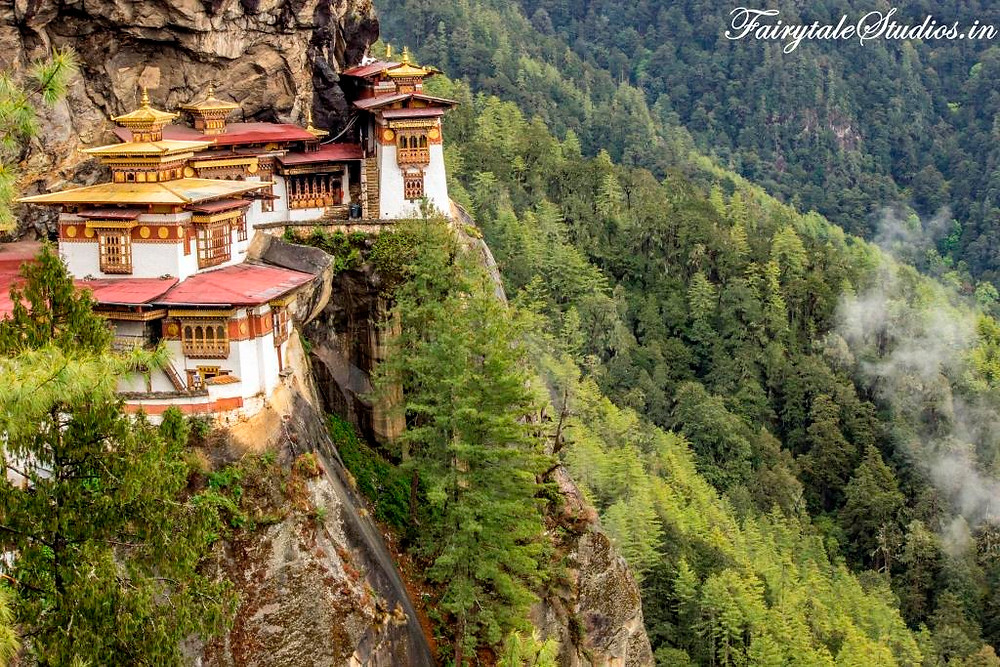 The beautifully resurrected Taktsang or Tiger's Nest monastery