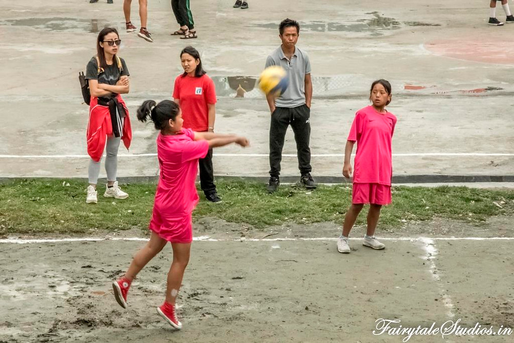 Girls playing a volleyball match in a school in Phuentsholing, Bhutan_Bhutan photoblog