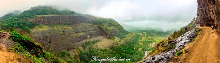 Konkan Kada cliff, Harishchandragad Fort trek, Maharashtra.