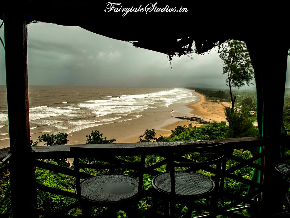 Top view of Gokarna main beach_Places to visit in Gokarna