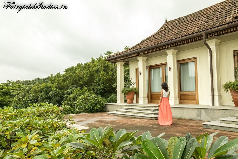 Walking towards the Green suite at Kahani Paradise - luxury villa in Gokarna