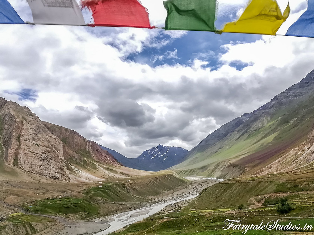 View from the Mud village in Pin valley - Spiti Valley, Himachal Pradesh, India