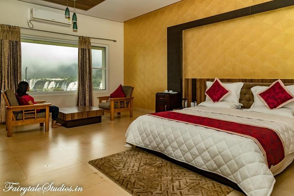 View of Jog Falls from our room at Hotel Mayura, Jog Falls, Karnataka - India
