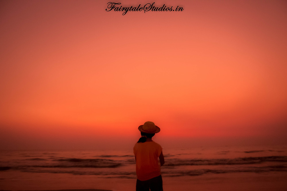An amazing afterglow post sunset at Benaulim beach, Goa
