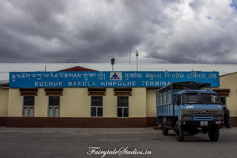 Outside the Leh Airport (The Zanskar Odyssey)