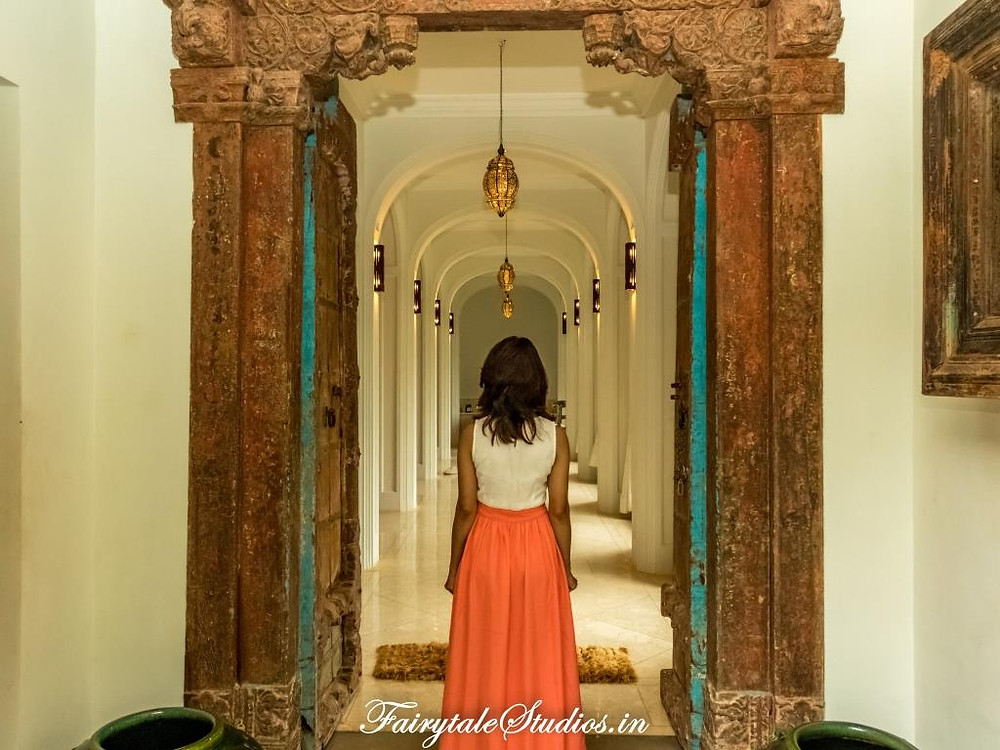 Entering the Palace suite at Kahani Paradise - luxury villa in Gokarna