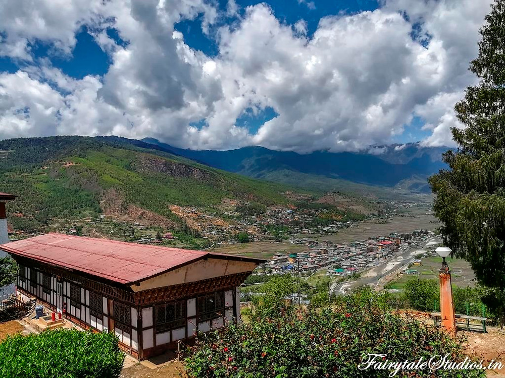 The valley of Paro in Bhutan with Paro Chhu river meandering through_The Bhutan Odyssey - Places to visit in Paro