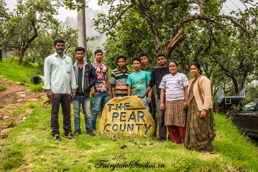The staff @ The Pear County, Kodaikanal
