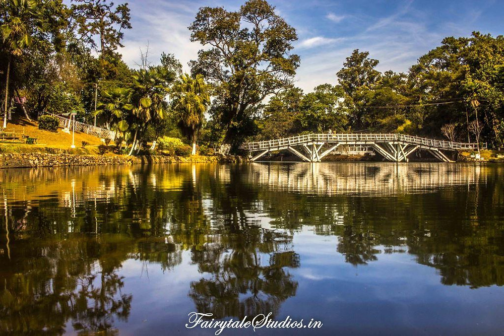 Beautiful reflections at Wards lake in Shillong