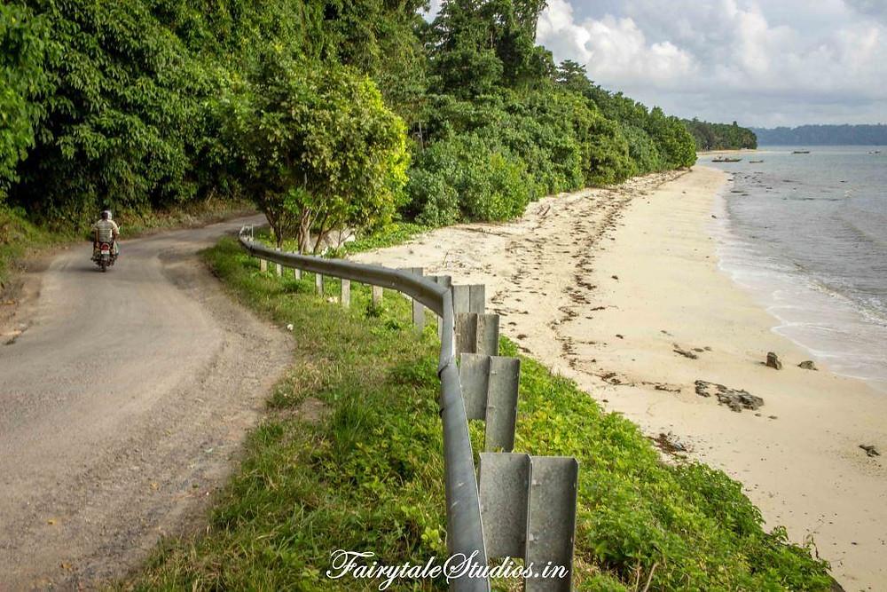View of Vijay Nagar beach from road at havelock island, Andamans