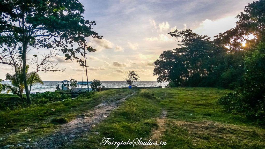 Walking towards Sitapur beach in Neil Island, Shaheed Dweep, Andamans
