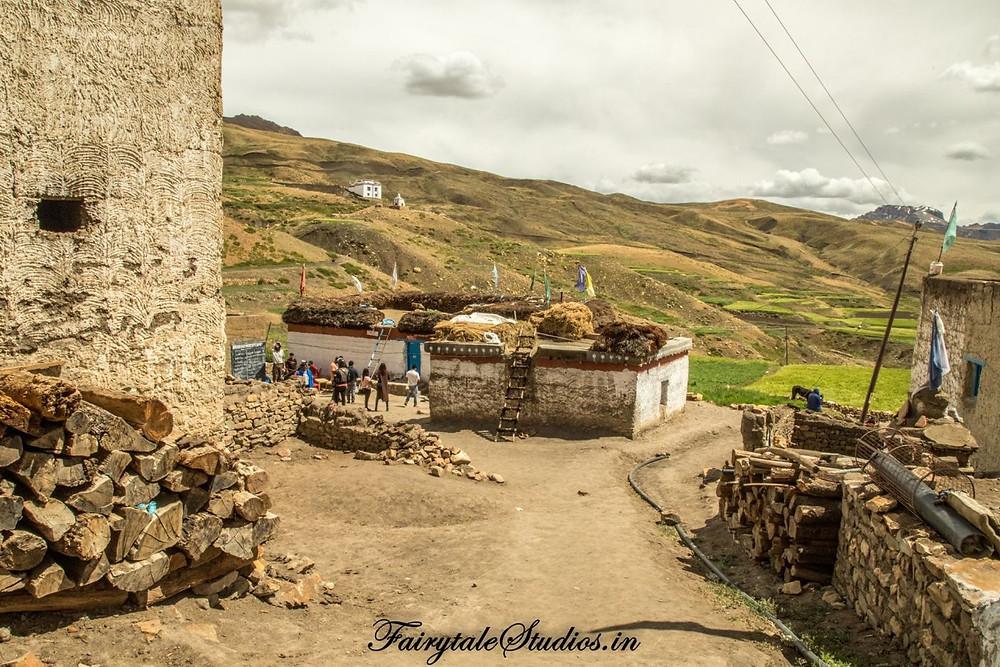 Hikkim village, Spiti Valley - Himachal Pradesh, India