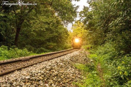 Rail trek to Dudhsagar Falls, Goa - India