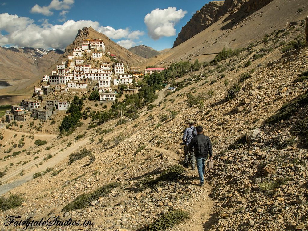 Side view of the Key monastery, Spiti Valley