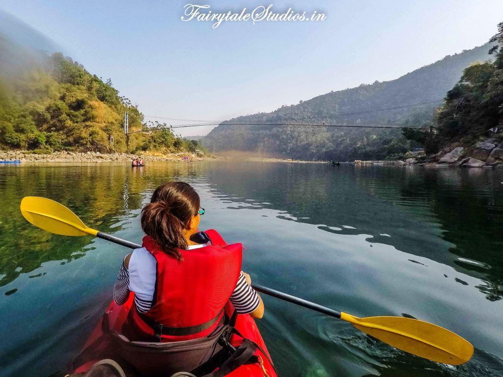 21. Shnongpdeng_Kayaki at Pioneer Adventures campsite near Umngot river_The Meghalaya Odyssey_Fairytale Travel blog