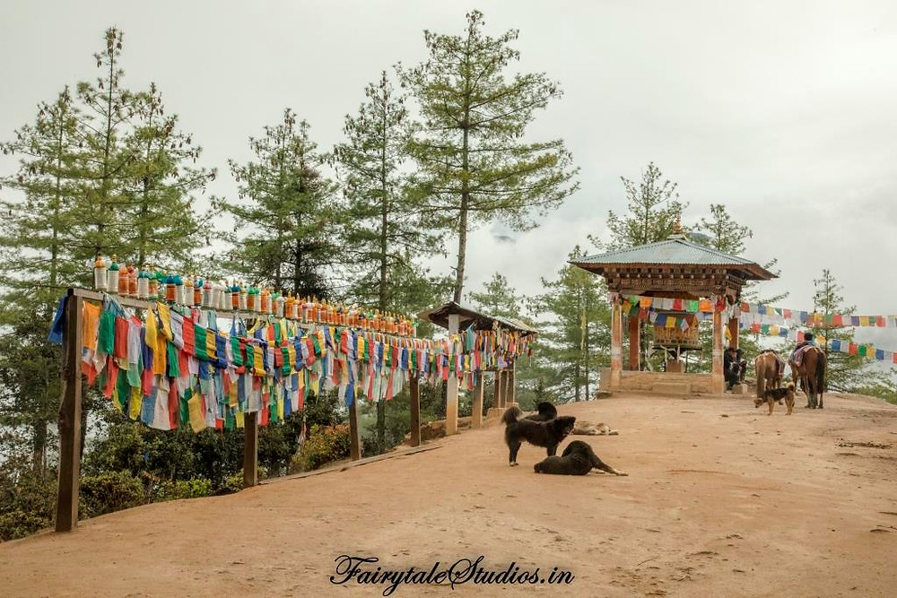 The mid way point on Taktsang trail where ponies would leave you