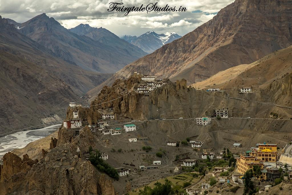 Dhankar monastery as seen perched on top of the hill in Dhankar village, Spiti Valley_Plan your trip to Spiti Valley
