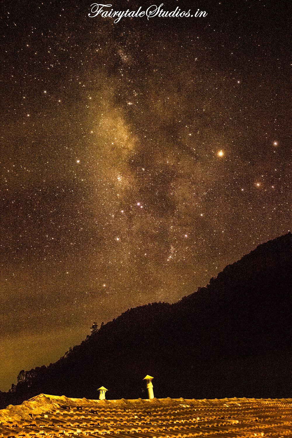 Milky way seen in the night from Red hills nature resort