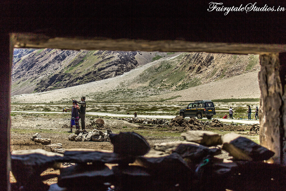 Our team of photographers exploring around the dairy house near Padum (The Zanskar Odyssey Travelogue)