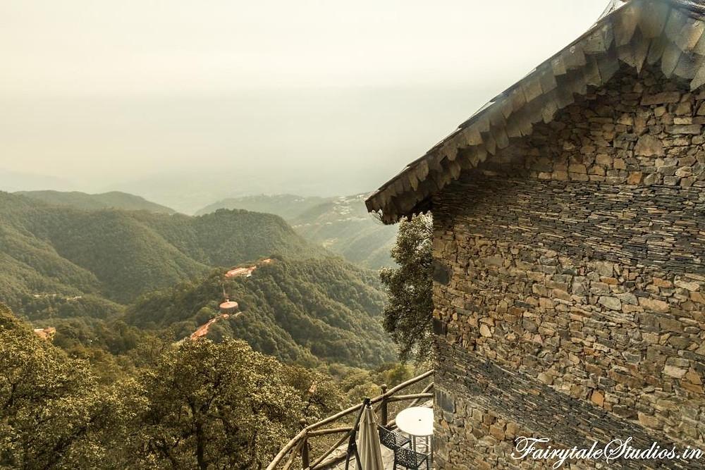 The valleys of Mussoorie as seen from Landour, Uttarakhand - India