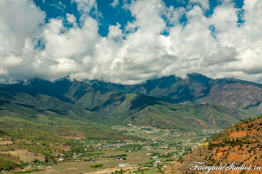 Landscapes with mountains and valleys in Bhutan - The Bhutan Odyssey