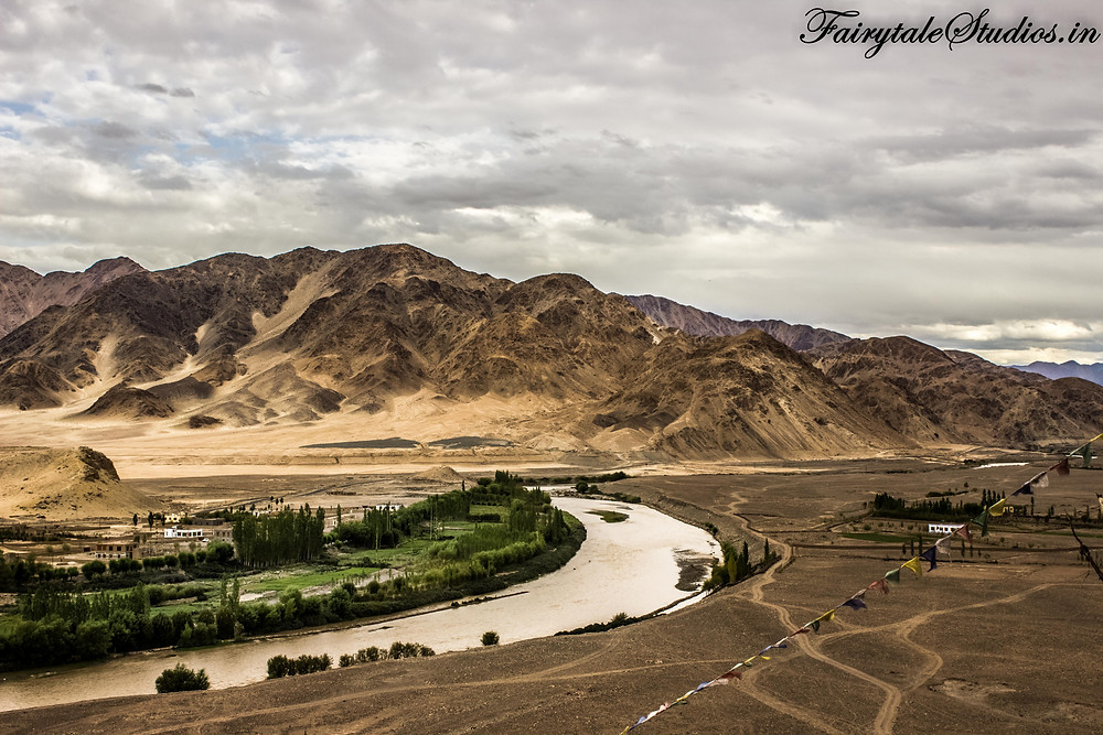 View from Stakna Monastery on the banks of Indus river (The Zanskar Odyssey)