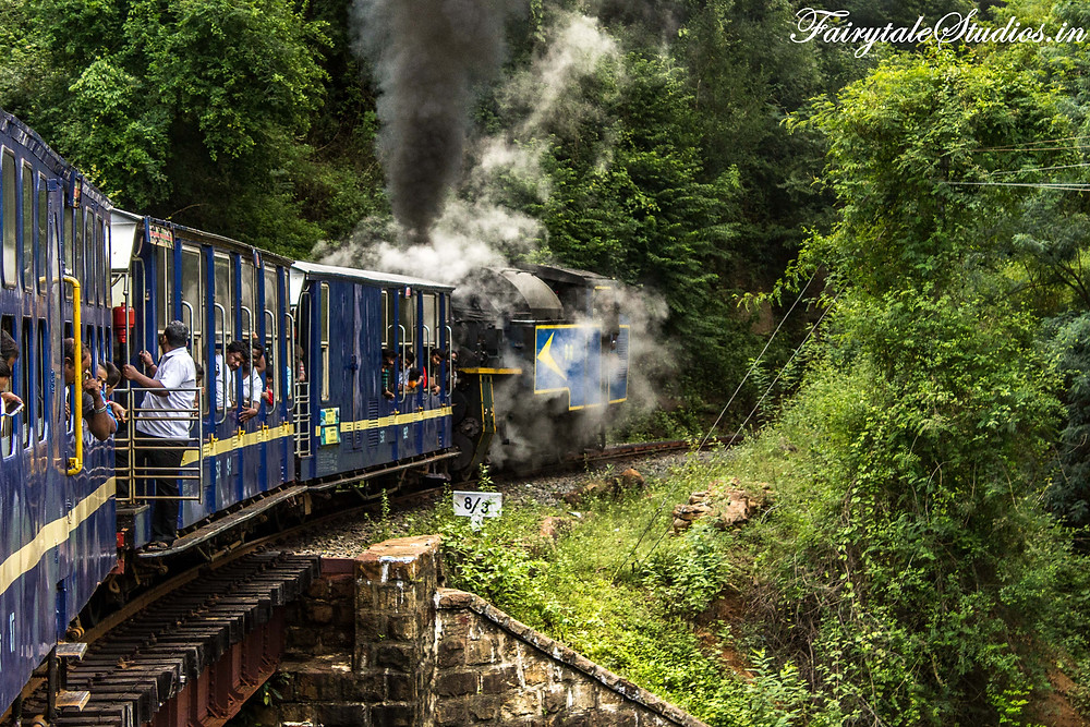 Nilgiri mountain rail begins its journey throwing smoke and steam