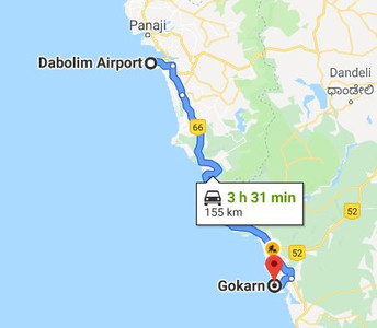 Goa to Gokarna