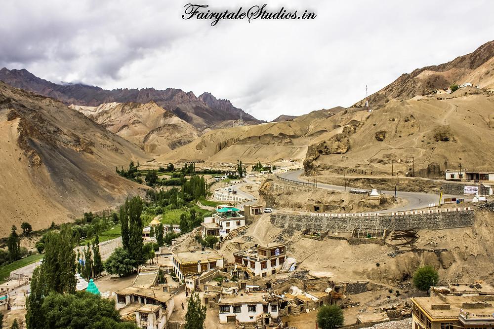 Lamayuru village viewed from the monastery (The Zanskar Odyssey travelogue)