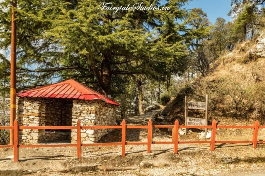Entrance to Jabarkhet Nature reserve, unexplored place of visit near Mussoorie, Uttarakhand - India