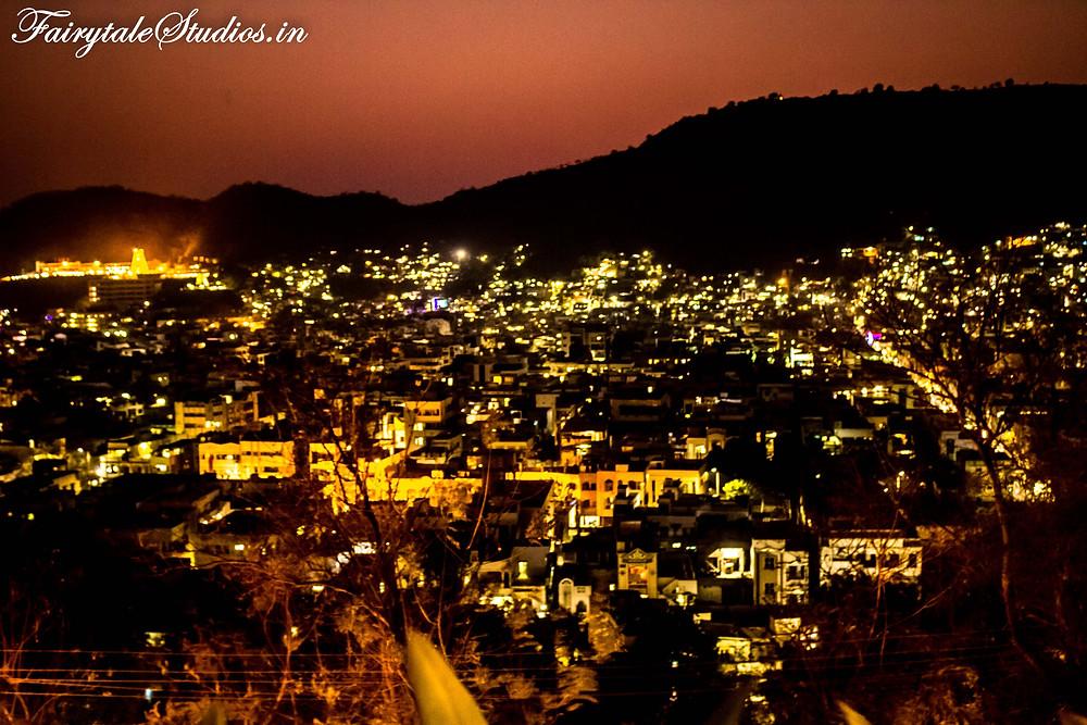 The city of Vijayawada seen from top of Gandhi hill