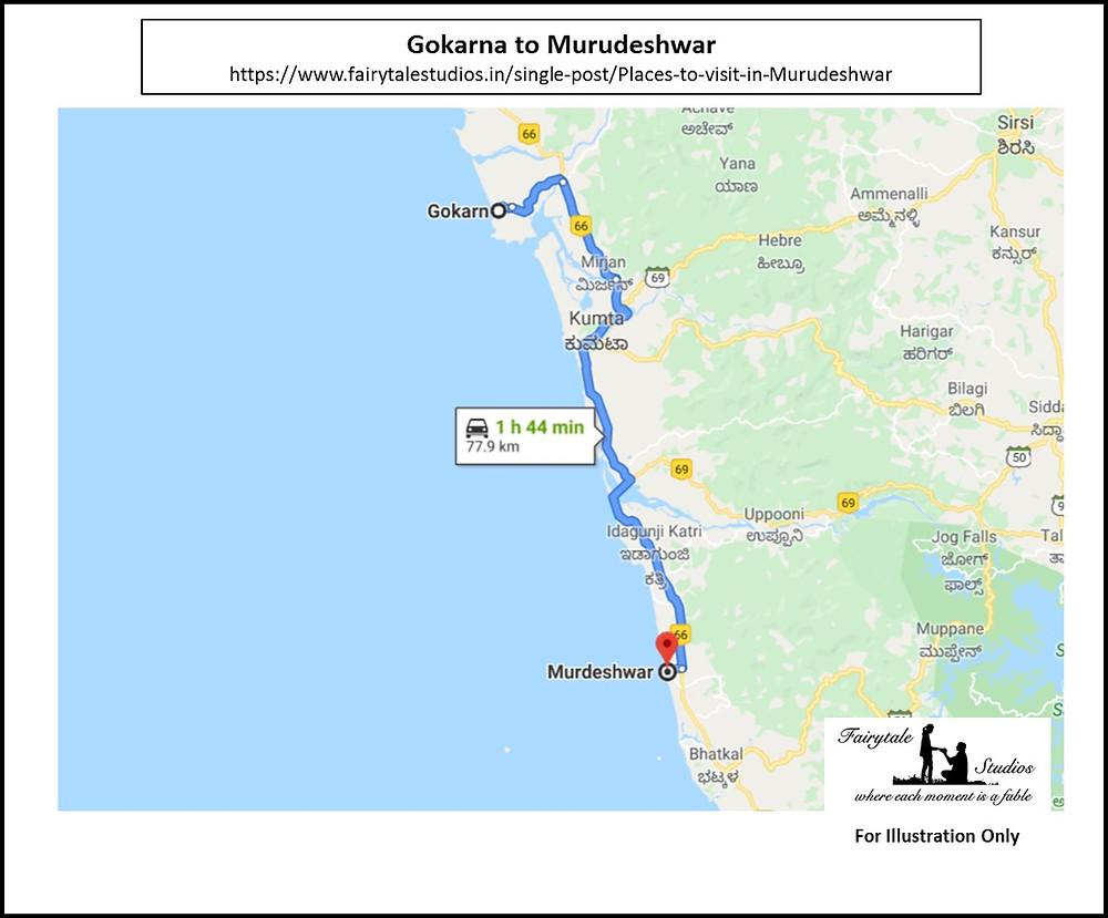 You can easily club visiting Murudeshwar with a Gokarna trip