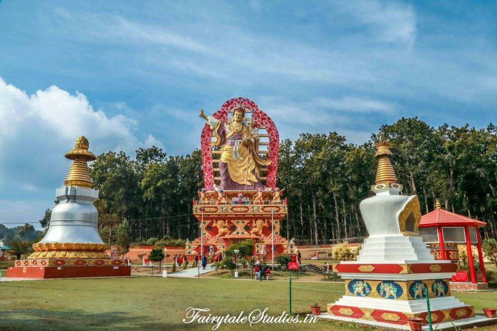 Guru Rinpoche or Padmasambhavana statue at Mindrolling monastery in Dehradun, Uttarakhand - India