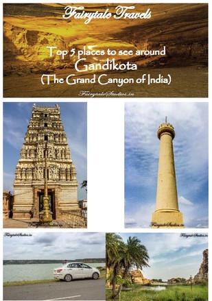 Places around Gandikota in Andhra Pradesh
