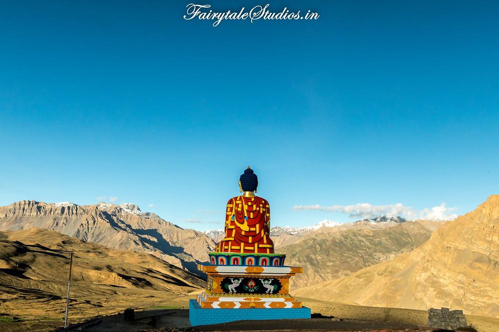 Buddha statue in Langza village, Spiti Valley - Himachal Pradesh, India