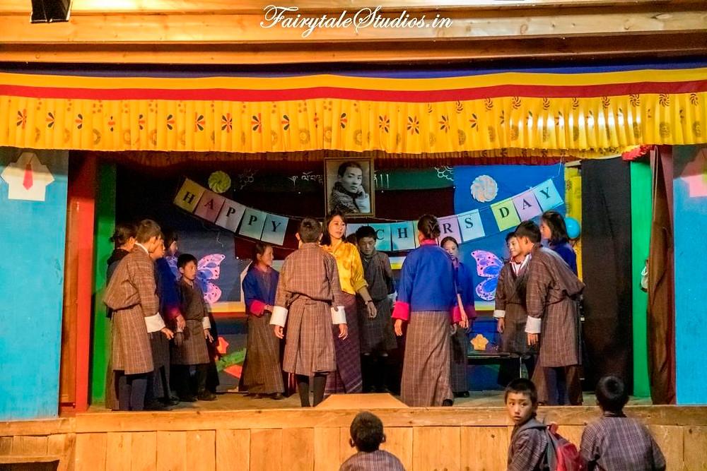 School in Phobjikha Valley, Bhutan