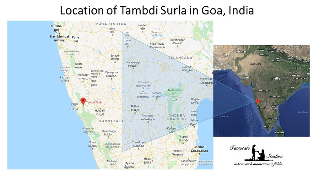 Location of Tambdi Surla, Goa