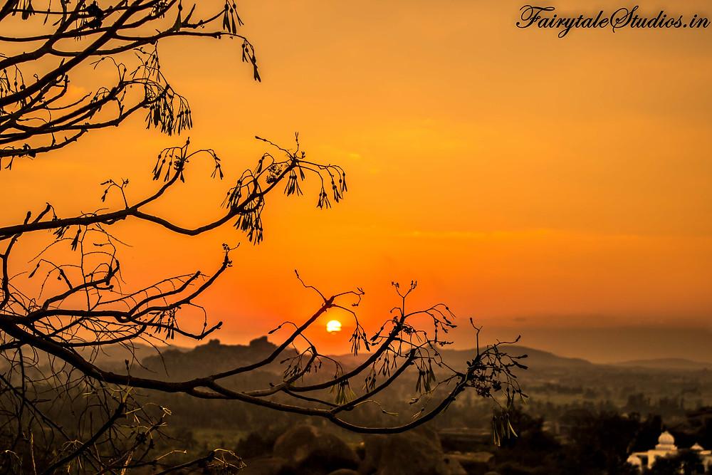Sunset from Matanga hill in Hampi