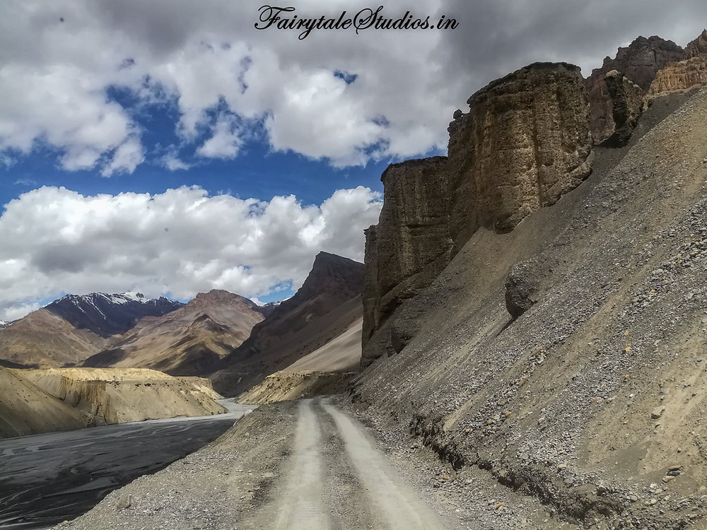 Route to Chandratal Lake from Kaza, Spiti Valley - Himachal Pradesh, India