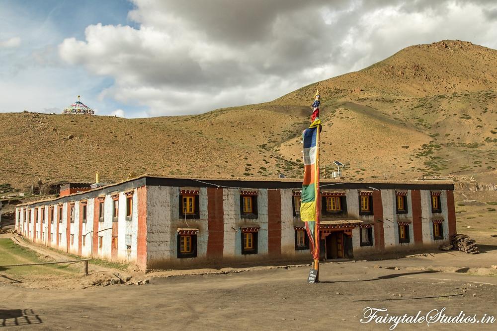 Tangyud monastery in Komik village, Spiti Valley - Himachal Pradesh, India