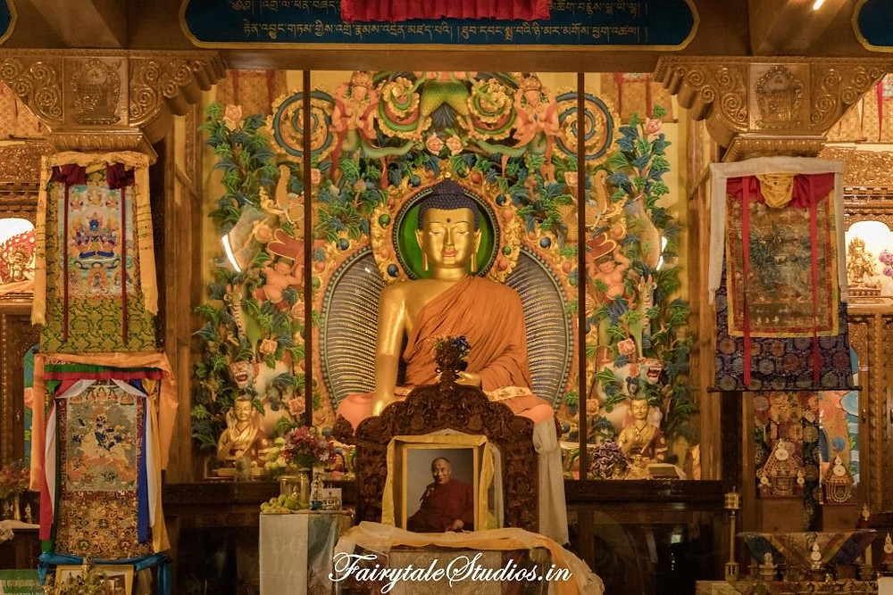 Statue of Lord Buddha in the new Tabo monastery, Tabo - Spiti Valley, Himachal Pradesh